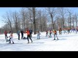Старт девушек 2004-2006 гг. на Бугульминском лыжном марафоне 2018