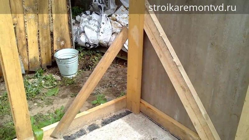 Строим сарайчик для дров (дровник, навес) часть 2 - доделка каркаса и задняя стенка