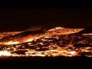 Drifting lava berg