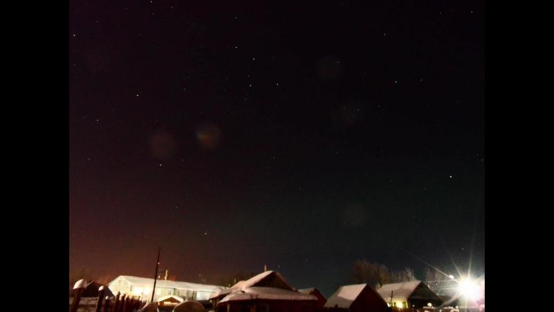 северное сияние над Путейцем 23.02.18