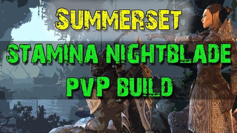 Stamina Nightblade Solo PvP Build - Elder Scrolls Online: Summerset