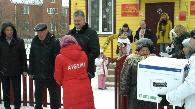 Алевтина Окликова выступает на открытии ФАПа в с. Альгешево