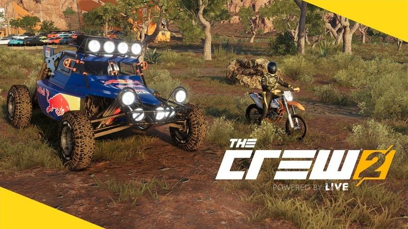 The Crew 2 - Гонка от Зоны 51 до Лас-Вегаса по бездорожью / Багги против мотоцикла!