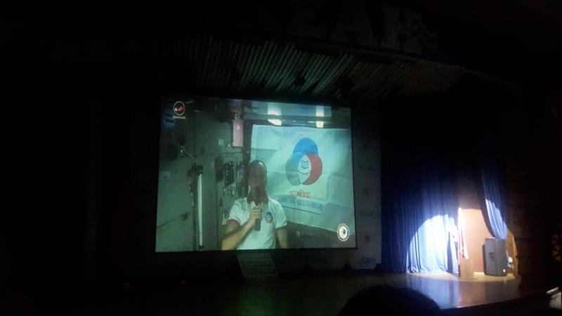 Поздравления из космоса в честь открытия смены Молодые лидеры России!