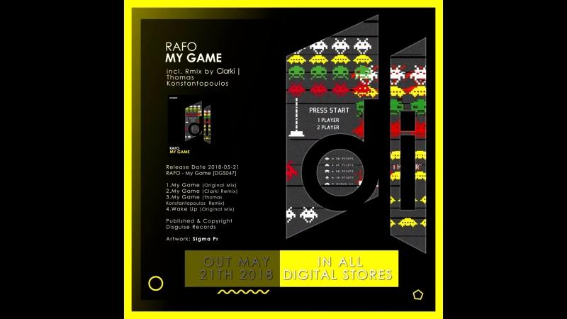 RAFO new single My Game coming out to Disguise Records смотреть онлайн без регистрации