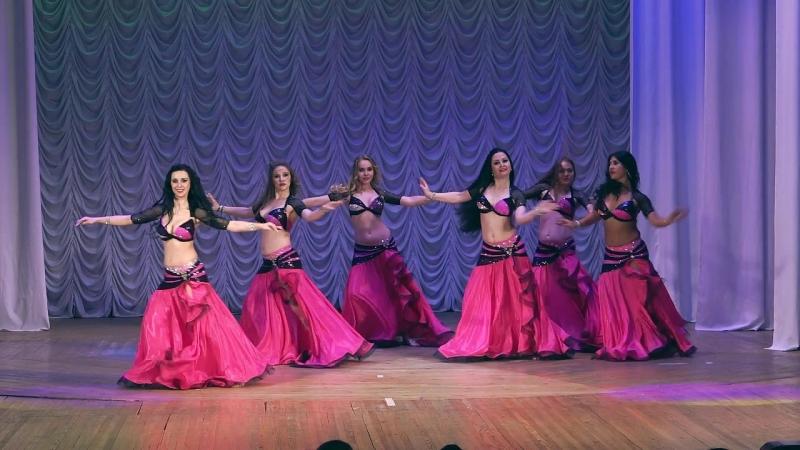 Старший состав Школы Танца ФАЙЗА, group Belly Dance, modern oriental style.