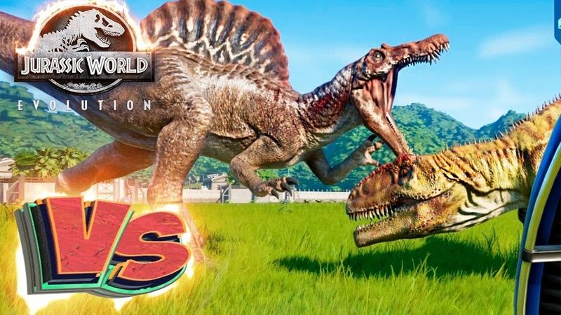 СПИНОЗАВР vs ГИГАНОТОЗАВР - Схватки Динозавров - Jurassic World EVOLUTION 3