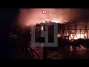 Пожар на строительном рынке в Железнодорожном