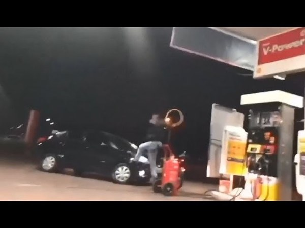 Motorista fura fila para abastecer no DF, discute e atropela homem