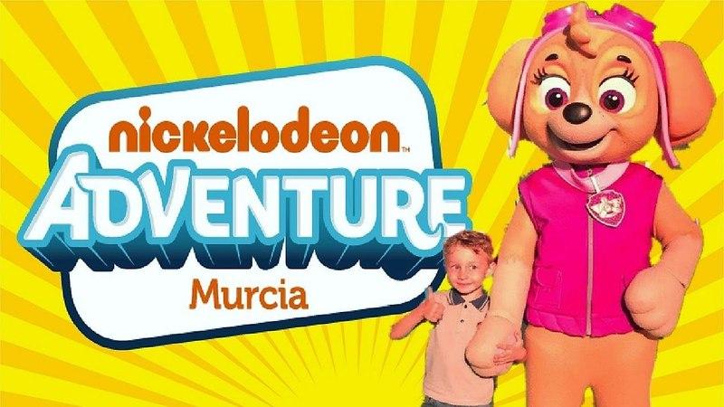 NICKELODEON adventure Murcia приключения НИКОЛЯ в парке развлечений Губка БОБ Щенячий патруль