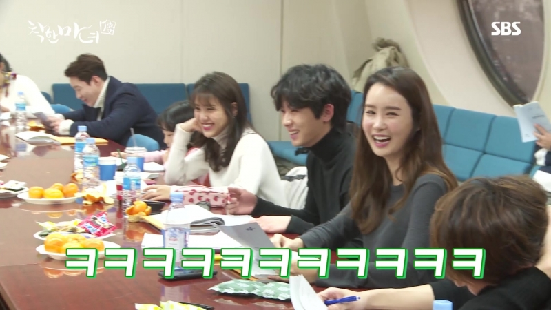 180215 Hyejeong on reading the dorama script Good Witch