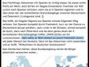 Flüchtlingslüge Spanien- Ein Skandal- Alle kommen illegal nach Deutschland-