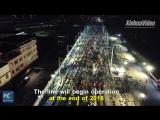 В Китае построили железную дорогу за 9 часов