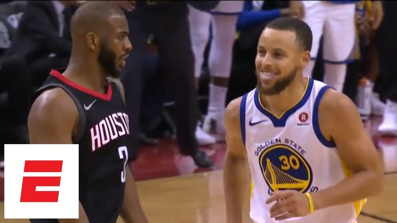 Chris Paul hits 3, shimmies all over Stephen Curry during Game 5 of Rockets vs. Warriors   ESPN