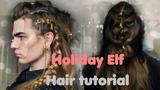 Christmas Elf, braided hairdo tutorial || Lithunium Snow