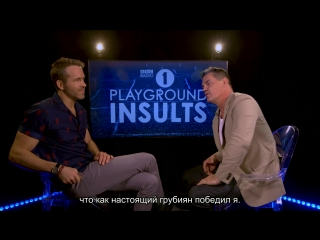 Ryan Reynolds and Josh Brolin Insult Each Other [RUS SUB]