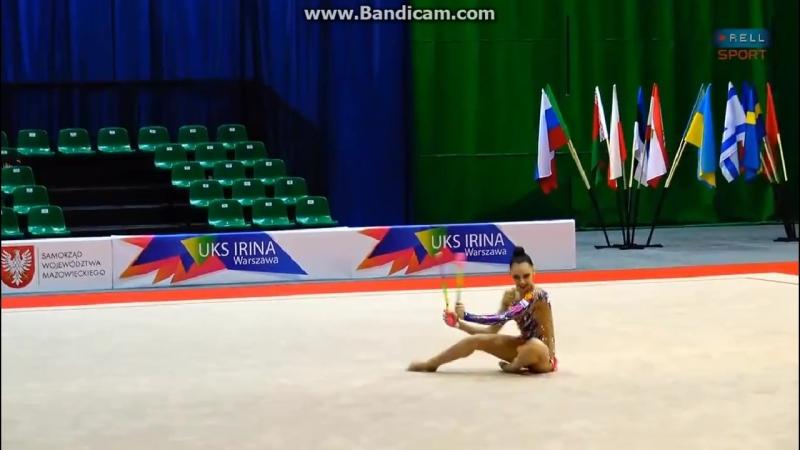Дарья Трубникова булавы (многоборье) Irina cup 2018