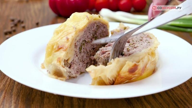 Мясной пирог Золотые берега Рецепты от Со Вкусом