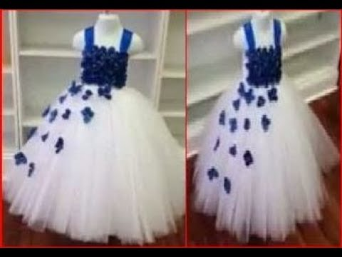 Baby girl party wear dress frock cutting and stitching
