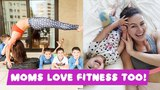 Дети спорту не помеха! Мамы тоже любят фитнес!  Moms love fitness too!