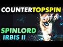 FH контртопспин перекрут накладкой SPINLORD Irbis II max на разных основаниях