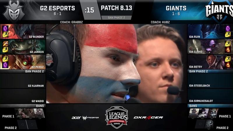 G2 vs GIA Must See Неделя 4 Игра 38 LCS EU Summer 2018 Split