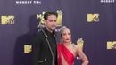 G Eazy and Halsey at the 2018 MTV Movie And TV Awards at Barker Hangar in Santa Monica