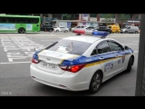 Seoul Police Use PA To Move Illegally Parked Truck (South Korea)
