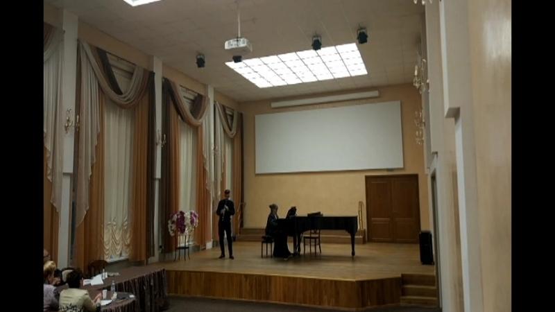 К.Сен-Санс Соната для кл-та и ф-но op.167 Глеб Бушин