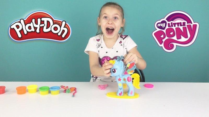 Play Doh Рейнбоу Деш из мультика Мой маленький пони Rainbow Dash My Little Pony