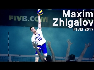 Best Spikes by Maxim Zhigalov. FIVB Volleyball World League 2017.