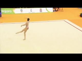 АРИНА АВЕРИНА - Лента (многоборье) -- Чемпионат Европы 2018. Гвадалахара, Испания.mp4