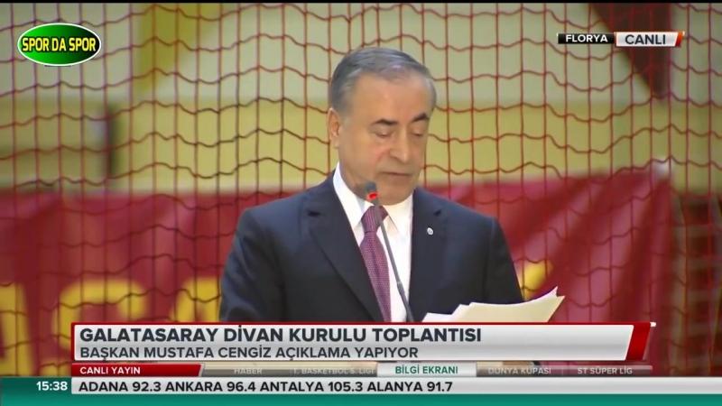 Galatasaray Başkanı Mustafa Cengiz Divan Kurulunda Uefa,Ada,Riva,Florya Açıklamaları13 Haziran 2018