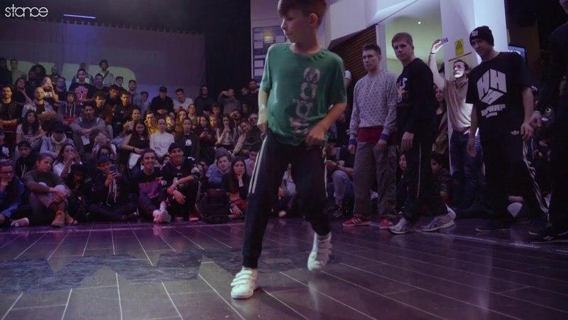 11 year old bboy Raptor at Porto World Battle 2018 .stance