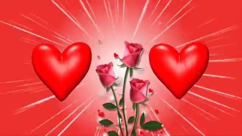 Красивый бесплатный футаж с сердечками и рамочкой для фото..mp4