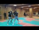 Защита от Мае гери (прямого удара ноги) Кикбоксинг в Казани