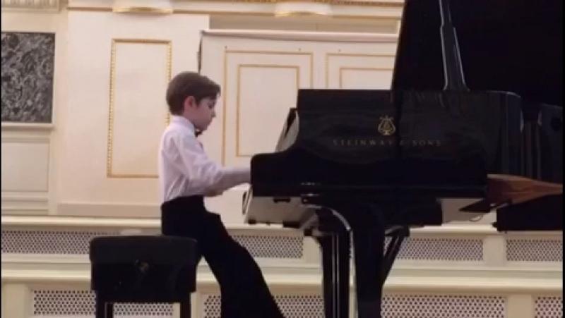 Выступление в Капелле 31 мая 2018 г. Серхио Мароньо - Искакова - ученика 1 класса Хорового Училища им. Глинки