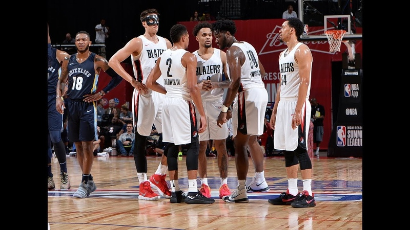 Caleb Swanigan Zach Collins Are Dominant In Semifinal Victory   2018 MGM Resorts Summer League NBANews NBA
