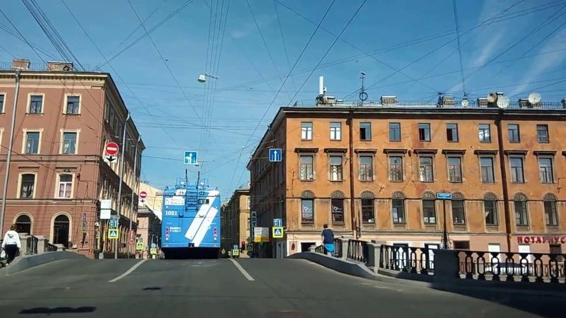 . Санкт-Петербург-Мойка-Гороховая-Нева. Поездка на автомобиле по городу