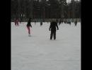 Я зимой на коньках  В парке НЛМК
