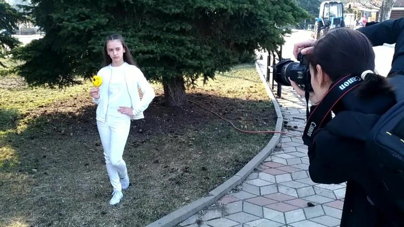 Отчетная фотосессия в школе моделей НОВЫЕ ЛИЦА на каруселях