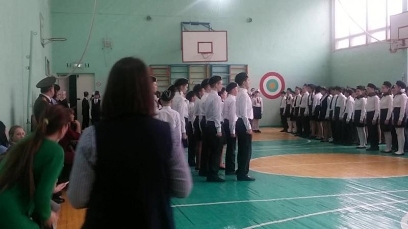6Д класс, 44 Лицей, Первые в конкурсе-смотре строя и песни, посвященном Дню защитника Отечества!