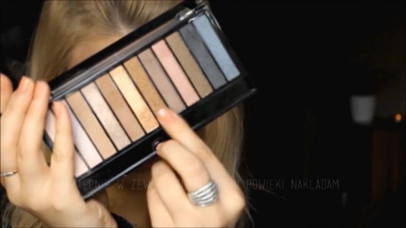 Makijaż jesienny w złocie i brązach paletką MAKEUP REVOLUTION ICONIC 1