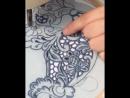 Вышиваю ришелье на машинке