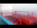 Доставка снабжения с помощью дронов Maersk Tankers Flown out by drone