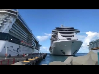 Cruise ship MSC docks in port
