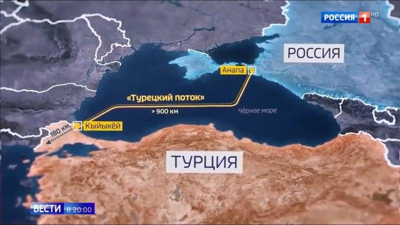 Украина в ПОЛНОЙ Ж...! Газопровод Турецкий поток почти готов