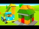 Песенки по машинки - Подъемный кран - Мультики для малышей