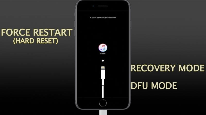 IPhone 8 8 Plus and iPhone X How to Force Restart hard reset enter exit recovery and DFU mode