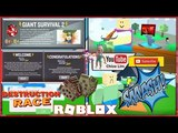 Roblox Giant Survival 2 Gameplay! EVENT! GIANT SQUARE NOOB and event item Sabacc Playing Cards!
